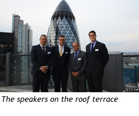 The speakers on the roof terrace