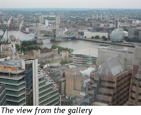 The view from the gallery