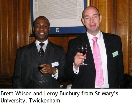 Brett Wilson and Leroy Bunbury from St Mary�s University, Twickenham